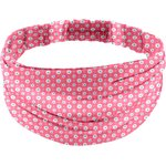 Headscarf headband- Adult size small flowers pink blusher - PPMC