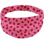 Turbantes para adulto cuadros vichy rojo y mariquitas - PPMC