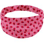 Headscarf headband- Adult size ladybird gingham - PPMC