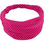 Headscarf headband- Baby size fuschia spots - PPMC