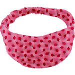 Turbantes para bebé cuadros vichy rojo y mariquitas - PPMC