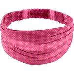Headscarf headband- Baby size fuchsia gold star - PPMC