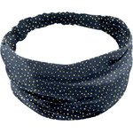 Headscarf headband- Baby size navy gold star - PPMC