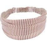 Bandeau fichu Bébé rayures cuivrées - PPMC