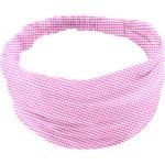 Headscarf headband- Baby size fuschia gingham - PPMC
