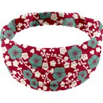 Headscarf headband- child size ruby cherry tree - PPMC