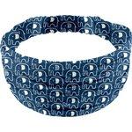 Headscarf headband- child size blue elephant - PPMC