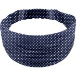 Headscarf headband- child size navy gold star - PPMC