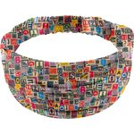 Headscarf headband- child size multi letters - PPMC