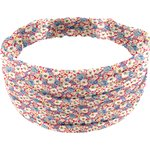Headscarf headband- child size carnations jeans - PPMC