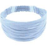 Turbantes para niña cuadros vichy azul cielo - PPMC