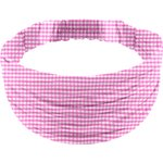 Headscarf headband- child size fuschia gingham - PPMC