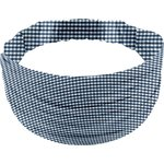 Headscarf headband- child size navy blue gingham - PPMC