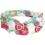 crossed headband powdered  dahlia - PPMC