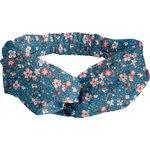crossed headband fleuri nude ardoise - PPMC