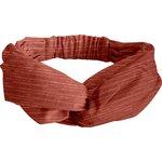 crossed headband lurex terracotta gauze - PPMC