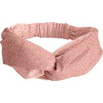 crossed headband mini pink flower - PPMC