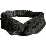 crossed headband noir pailleté - PPMC