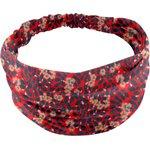 Headscarf headband- Baby size vermilion foliage - PPMC