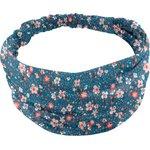 Headscarf headband- Baby size fleuri nude ardoise - PPMC