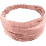 Headscarf headband- Baby size mini pink flower - PPMC