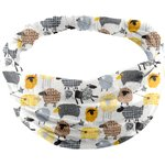 Headscarf headband- Baby size yellow sheep - PPMC