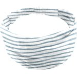 Headscarf headband- Baby size striped blue gray glitter - PPMC