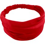 Headscarf headband- Baby size  red - PPMC