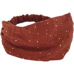 Headscarf headband- child size gauze terra cotta - PPMC