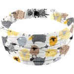 Headscarf headband- child size yellow sheep - PPMC