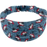 Headscarf headband- child size flowered night - PPMC