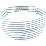 Headscarf headband- child size striped blue gray glitter - PPMC