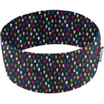 Stretch jersey headband   goutte multicolore marine - PPMC