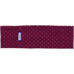 Stretch jersey headband  pois bordeaux - PPMC