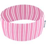 Stretch jersey headband  rayé rose - PPMC