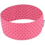 Stretch jersey headband  rose pois noir - PPMC