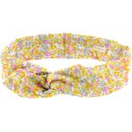 Wire headband retro mimosa jaune rose - PPMC