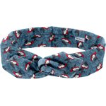 Wire headband retro flowered night - PPMC