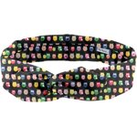 Wire headband retro multicolored owl - PPMC
