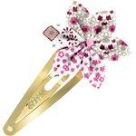 Barrette clic-clac fleur étoile rosace - PPMC