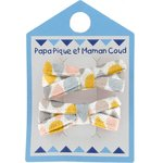 Small ribbons hair clips pastel drops - PPMC
