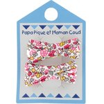 Small ribbons hair clips pink jasmine - PPMC