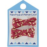 Small ribbons hair clips ruby dragonfly - PPMC
