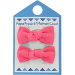 Small bows hair clips coral - PPMC