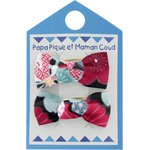 Small bows hair clips mekong's flowers - PPMC