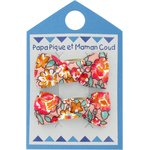 Small bows hair clips peach flower - PPMC