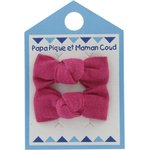 Small bows hair clips fuschia - PPMC