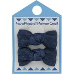 Small bows hair clips light denim - PPMC