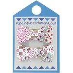 Barrettes clic-clac petits noeuds rosace - PPMC