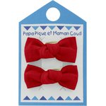 Small bows hair clips red - PPMC